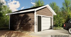 Гараж 6x4.8 строительство домов по норвежской технологии