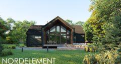 Brown Modern строительство домов по норвежской технологии