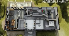 Grey Accent 141 строительство домов по норвежской технологии
