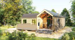 Дом с беседкой строительство домов по норвежской технологии